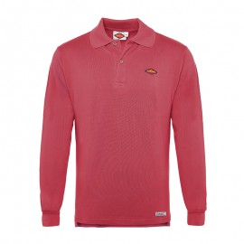 Long Sleeve Polo  Ash red